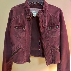 Abercrombie & Fitch Burgundy Jean Jacket Large